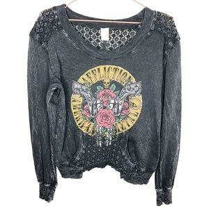 Affliction American Metal Distressed Sweater
